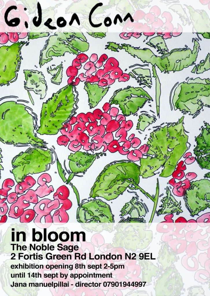 In Bloom exhibition poster