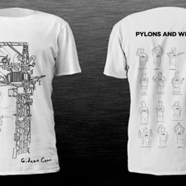 pylons and wire tees mock up